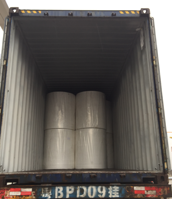 WE SHIPPED ANOTHER CONTAINER OF NON-WOVEN FABRIC FROM CHINA TO FRANCE