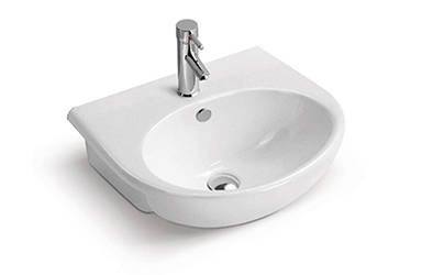 Circular ceramic counter basin