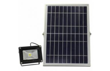 Light with solar panel