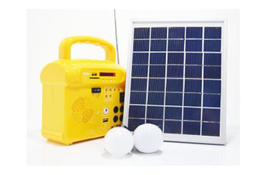 Solar panel with radio, mp3, led light and remote control