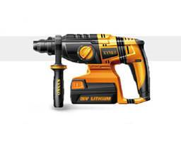 Rotary hammer with battery