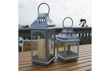 Lantern candle home decor