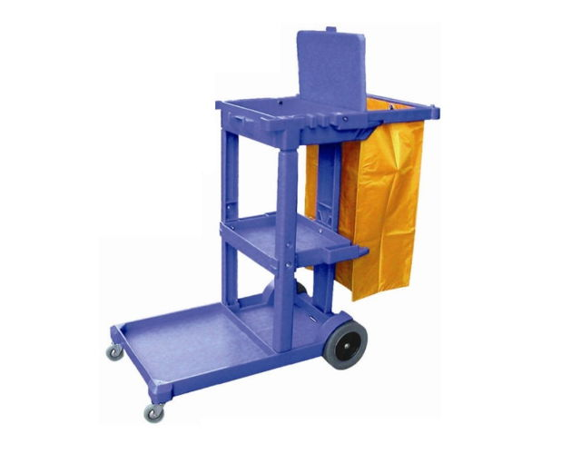 Janitor cart with cover (blue)